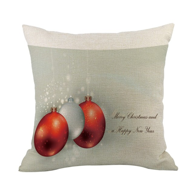 merry christmas throw pillow case xmas bells decorative pillows cover for sofa seat cushion cover 45x45cm