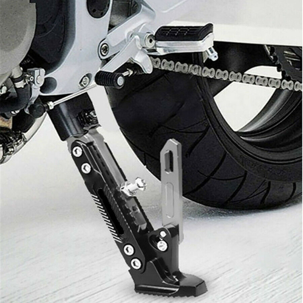 Motorcycle Accessories Motor Scooter Modified CNC Aluminum Alloy Adjustable Tripod Kickstand Foot Side Support Stand Motorcycle Kickstand
