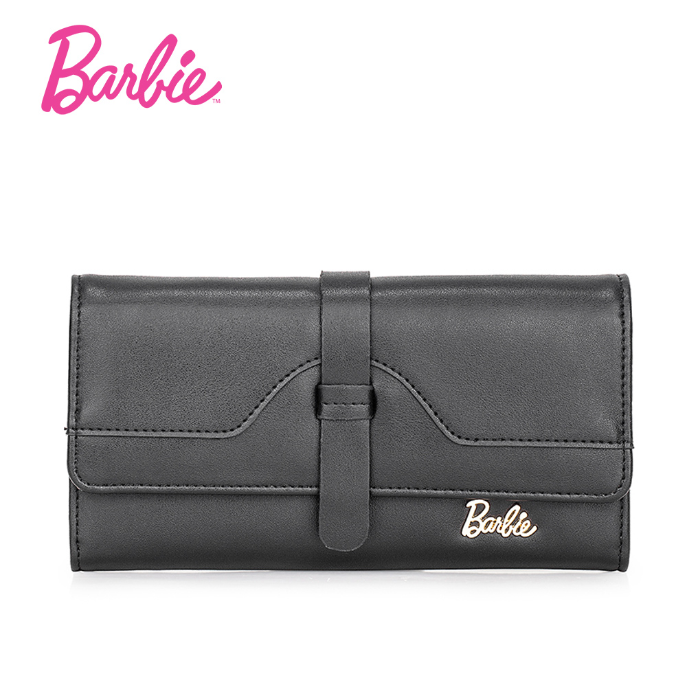 Barbie New Wallet Leather Wallets Female Long pures Women Hasp Purse Strap Coin Purse Cards Bag HandBag