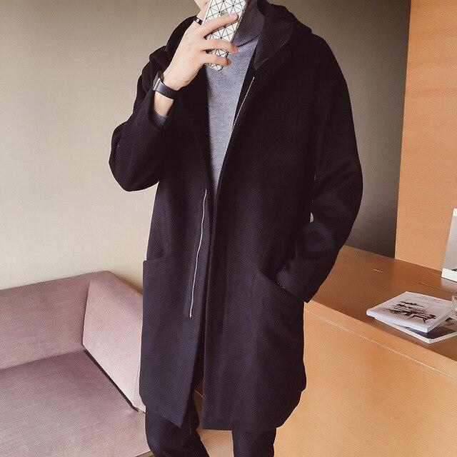 Homens Casaco Capa Longa Homem Plus Size Dos Homens do Sobretudo Masculino  jaqueta de Inverno Outono 805df0a8736