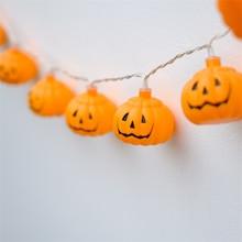 New 1 Set Pumpkin 10 LED String Lights Halloween Decoration Lights Warm White Halloween Home Decoration Accessorie