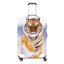 Dispalang Luggage Protective Tiger Patten Animal Cover for Suitcase Waterproof Lugage Cover Zippered Elastic Rain Cover Duffle