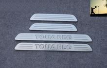 Car styling Auto Türschwellenverschleißplatte schützt Sills Trim für VW Volkswagen TOUAREG 2011 2012 2013 2014 auto-styling