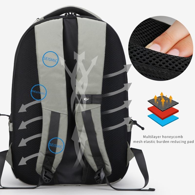 Multifunction USB Charging Men 15inch Laptop Backpacks Men's Bag 2