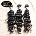 SexyFormulaHair 8-30 дюйм(ов) 3 шт. Лот Бесплатная Доставка 7А Класс Одного Донора Малайзии Природных Волна Малайзии Волос Девы человеческих Волос