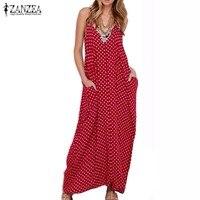 2016 New Arrival Summer Dress Fashion Women Dress Strapless Polka Dot Loose Long Maxi Dress Beachwear