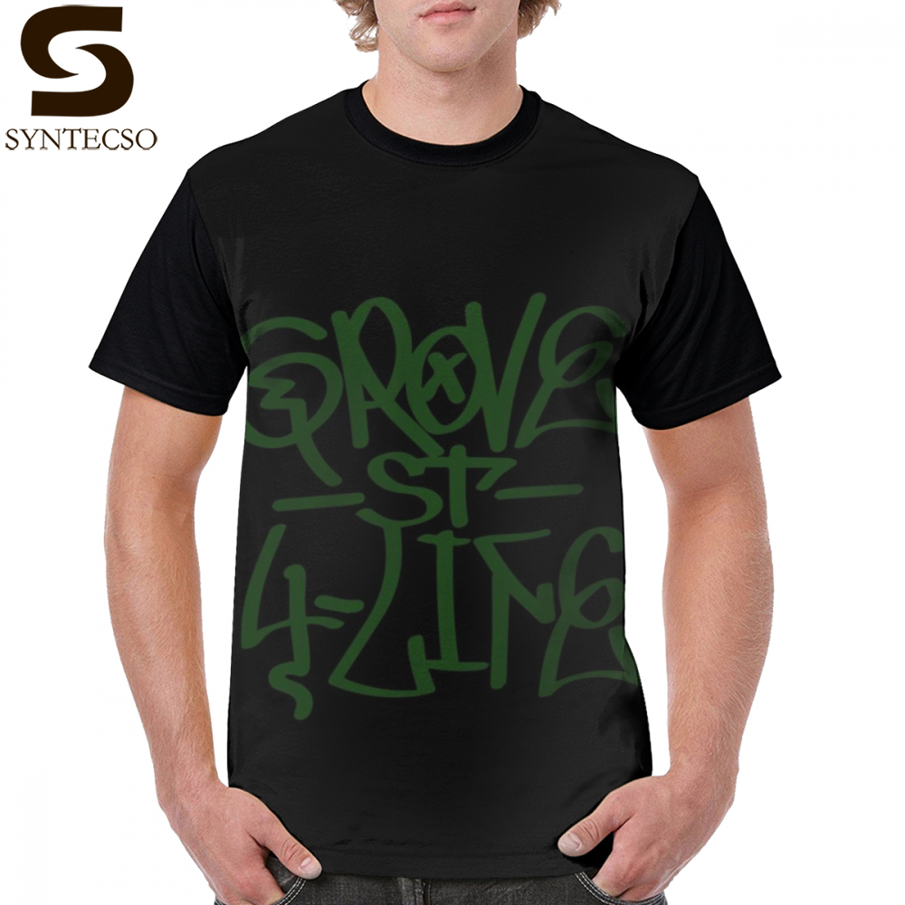 Gta San Andreas T Shirt Gta San Andreas Grove St 4 Life Graffiti T-Shirt Short Sleeves 6xl Graphic Tee Shirt <font><b>Funny</b></font> <font><b>Tshirt</b></font> image