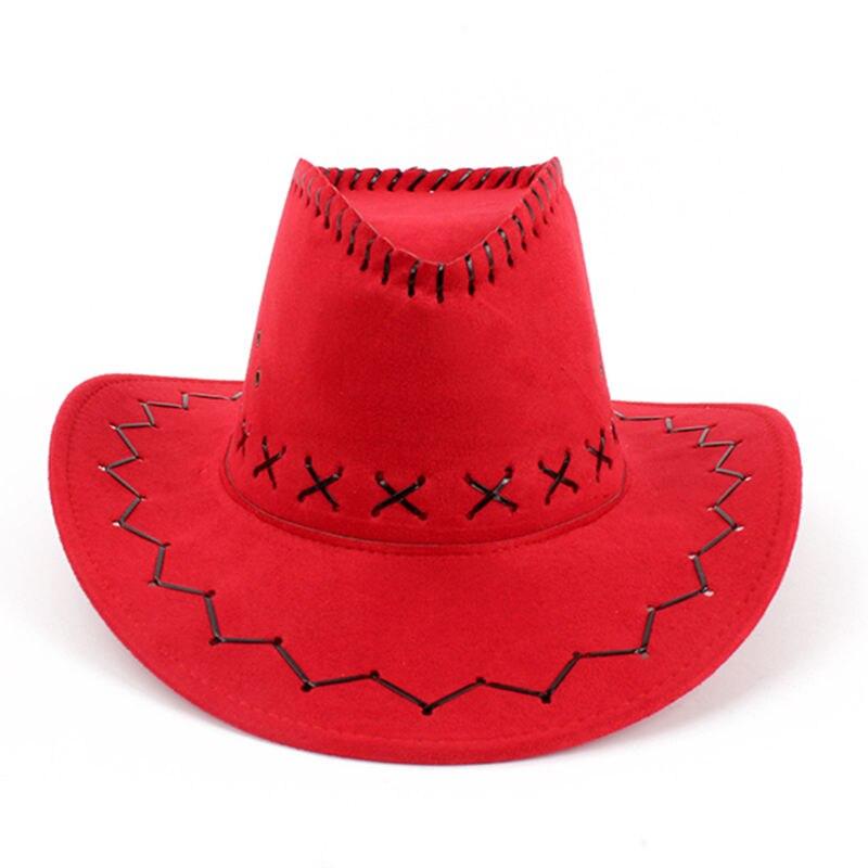 c853301f65d Striped Cowboy Hats Suede Vintage Men Western With Wide Brim Cowgirl Jazz  Cap