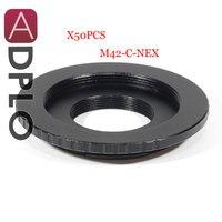 ADPLO 50pcs of Adapter ring for M42 C NEX, Dual Purpose Lens Adapter For M42 Screw C Mount Movie Lens to NEX Camera