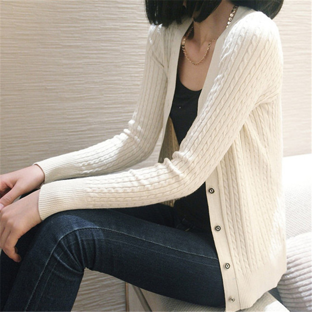 Новый сплошной цвет моды для женщин, Свитер женский кардиган тонкий верхняя одежда 2016 осень короткие дизайн свитер с длинными рукавами небольшой свитер