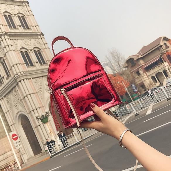 Summer Women Mini Backpack Travel Kids 2018 New Patent Leather Cute Small Backpacks For School Teenagers Girls Fashion Back Pack