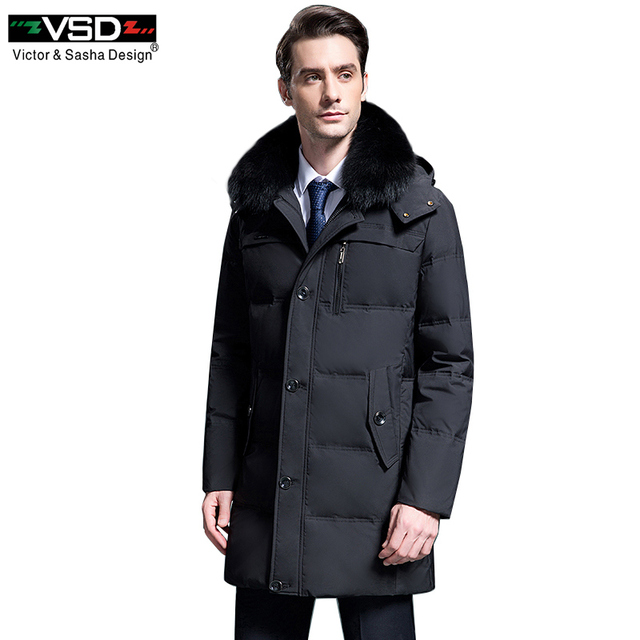 VSD 90% White Duck Down Jackets Quality Handsome Warm Long Fashion Business Winter Men's Clothing Casual Coat Male Parkas VS8788