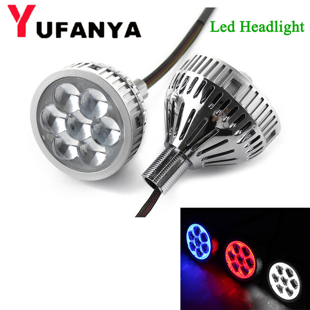 цена Car LED High Beam Far Shooting 3.0 inch Single Beam Projector Lens with Led Devil Eye for Headlight H7 9005/9006 etc