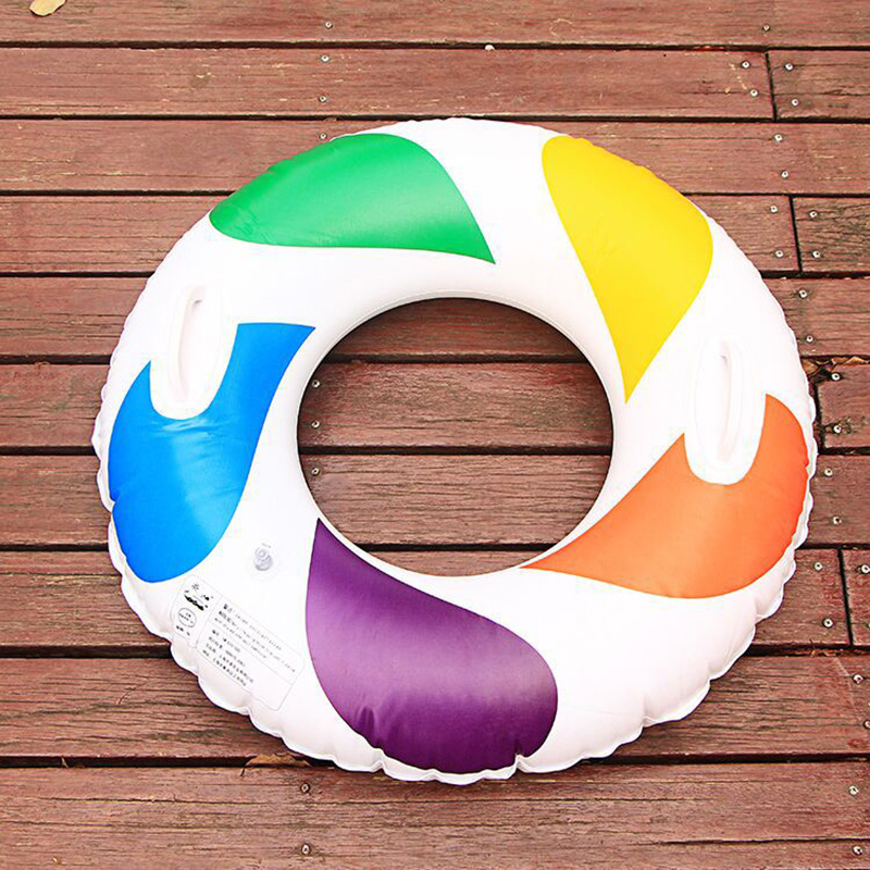 60CM New high quality Adult Childrens Summer Inflatable Colorful Swim circle Swimming Pool Boardwalk Swimming Protection Ring