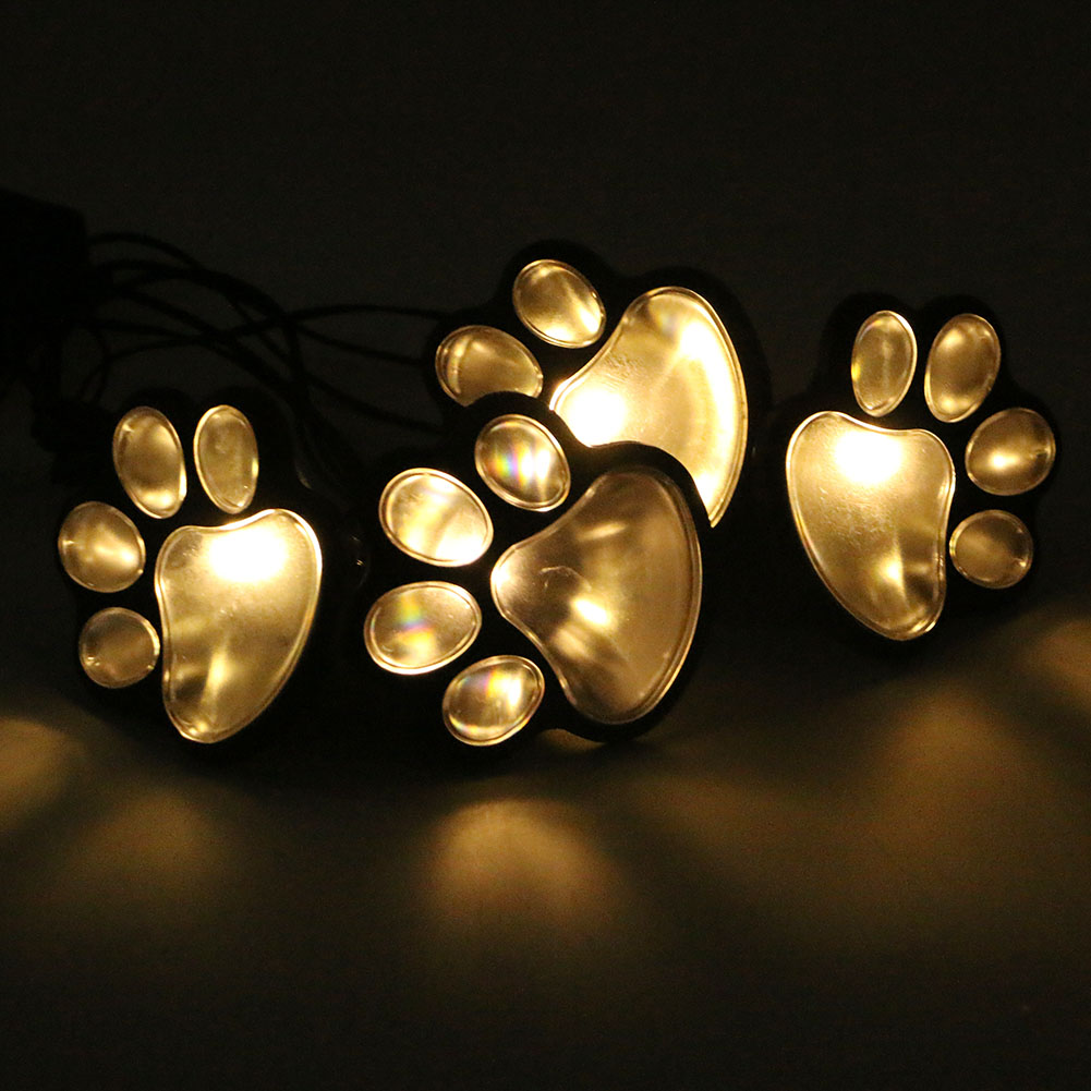 4 LED animal paw lights Solar Landscape Garden LED Path Light Lamp Set Outdoor Decor Lighting Strings