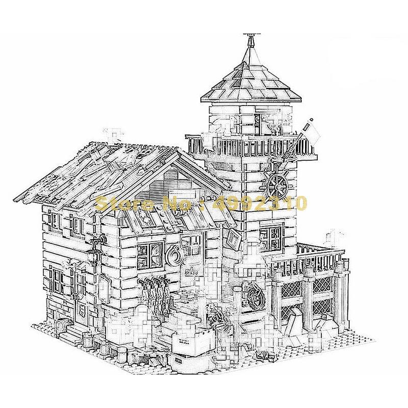 Sy1147 2049 piezas creativa moc vieja tienda de acabado con bloque de construcción de luz 21310 ladrillos de juguete-in Bloques from Juguetes y pasatiempos    1
