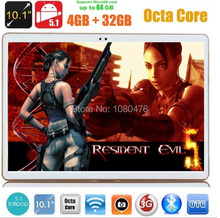 DHL Libre 10 pulgadas tablet pc octa core MTK8752 3G GPS Android 5.1 4 GB/32 gb 1280*800 IPS Pantalla de Doble Cámara de 5.0MP MEDIADOS Phablet