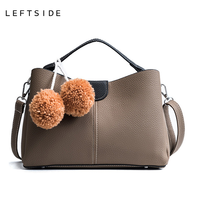 f885c6d555c3e LEFTSIDE Female Retro Leather Bag Designer Female Handbags Purse Girls  Shoulder Messenger Bag for Women Cross-body Hobos Bag