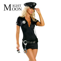 Sexy Policewoman Costume Carnival Party Cosplay Police Halloween Costumes For Women Dress Belt Hat Badge And