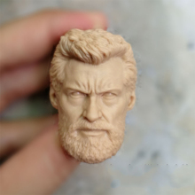 1/6 Hugh Jackman Unpainted Head for 12Action Figures Old Aged  Version