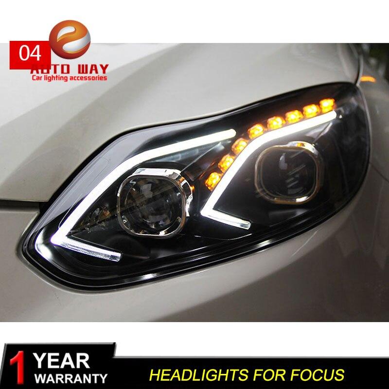 Estuche para Ford Focus 2012-2014 Faros delanteros LED Faros - Luces del coche - foto 4