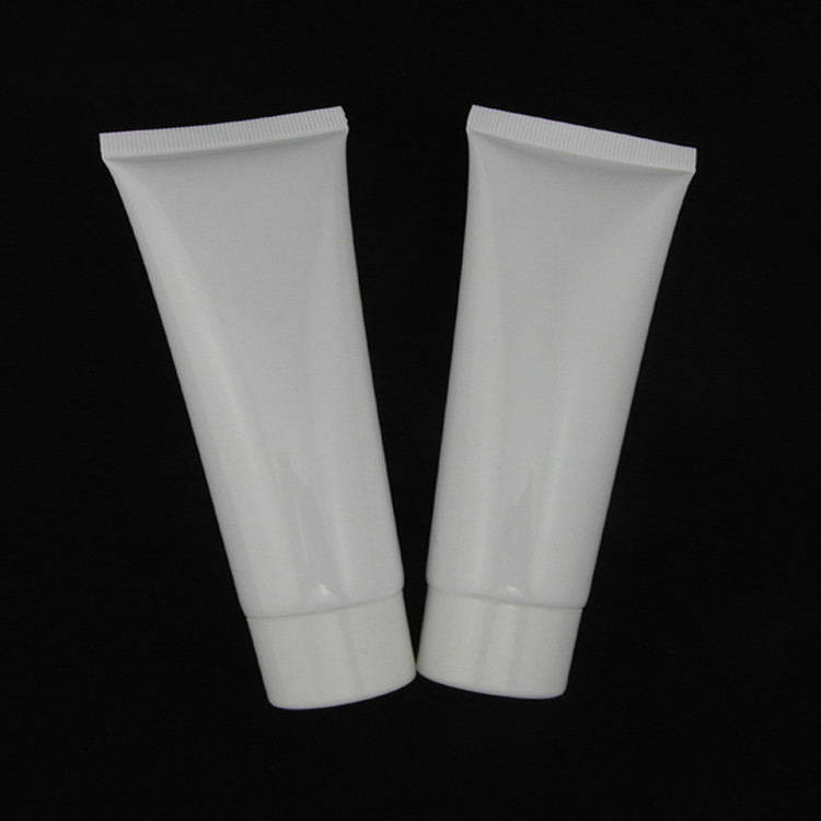 50pcs 80 ml white glossy tube tube cream lotion bottle PE plastic cosmetic packaging empty bottles