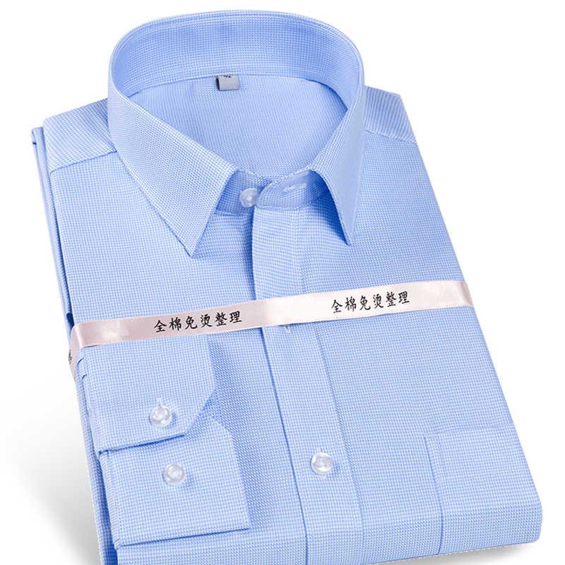 d4e8a60226f Men s Non-Iron Cotton Stripe plaid solid Dress Shirt with Left Chest Pocket