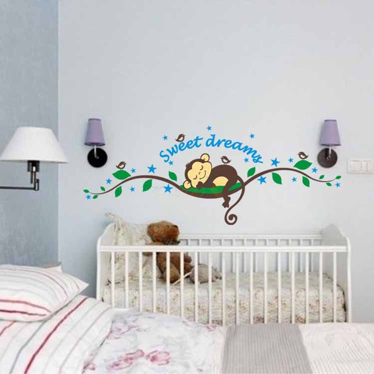 Superieur 2015 Special Offer Cartoon 1 Pc New Cute Monkey Sweet Dream Removable Stickers  Decor, Kids Wall Stickers, Nursery Room Sticker  In Wall Stickers From Home  ...