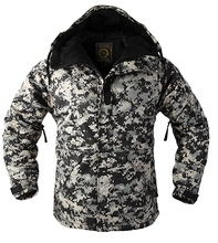 "New Edition ""SouthPlay"" Men's ""Black Military"" Waterproof 10,000mm Hood Double Closed Camo Warming Jacket"