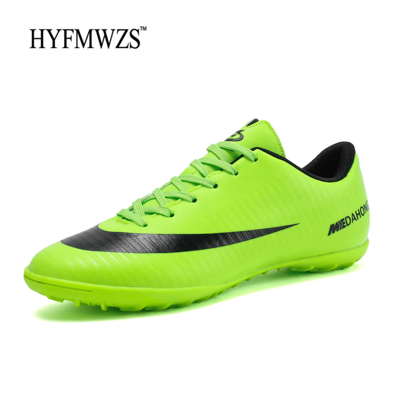 HYFMWZS Indoor Superfly Breathable Chuteira Futebol High Quality Cheap Men Soccer Shoes Superfly Original TF Kids Football Boots tiebao football shoes men soccer shoes tf turf sole football boot soccer boots sneakers men adults athletic chuteira futebol