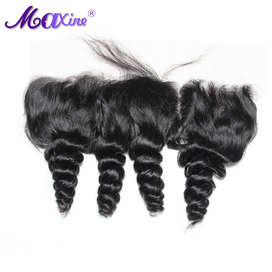 Maxine Hair 13 x 4 Loose Wave Pre Plucked Lace Frontal Closure With Baby Hair Ear