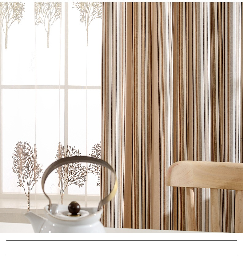 Fyfuyoufy modern and contracted stripe style window curtain the study sitting room curtain trees - Clever window curtain ideas matched with interior atmosphere and concept ...