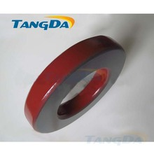 Tangda Iron powder cores T400-2 OD*ID*HT 102*57*17 mm 18nH/N2 10uo Iron dust core Ferrite Toroid Core Coating Red gray