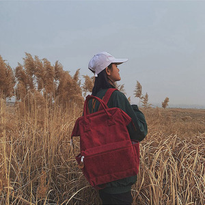 Image 3 - 2019 コーデュロイバックパック女性ランドセルティーンエイジャーの女の子 Mochila 大容量カジュアルトラベルバックパック女性リュックサック