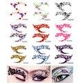 HaLu 2016 Nuevo Llega La Moda de Ojos Eyeshadow Roca Rhinestone Crystal Tattoos Pegatinas Párpados Decoración Maquillaje Herramientas de Belleza