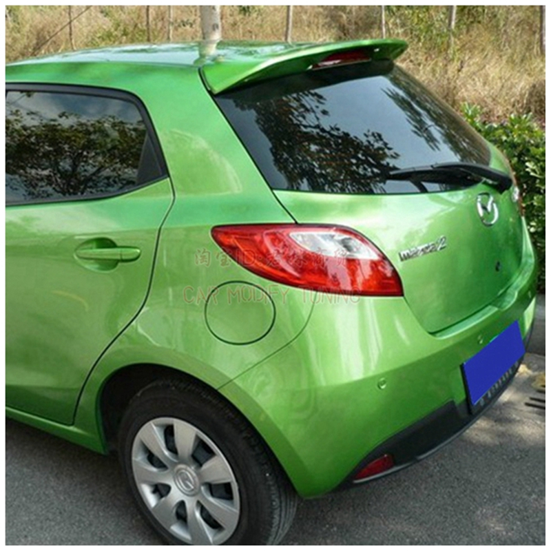 For Mazda2 <font><b>mazda</b></font> <font><b>2</b></font> Hatchback 2007-2013 Rear Wing <font><b>Spoiler</b></font>, Trunk Boot Wings <font><b>Spoilers</b></font> paint ABS 3M Paste image
