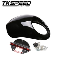 Free Shipping Black Headlight Plastic Front Visor Fairing Cool Mask Bezel For Harley 883 XL1200 Dyna
