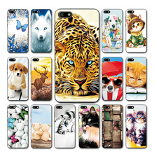 "Cute Pet Case Cover For Huawei Y5 Prime 2018 Leopard Sytle Honor 7a 5.45"" 7S Heart Back Cover For Huawei Y5 Lite 2018 Phone Bags"