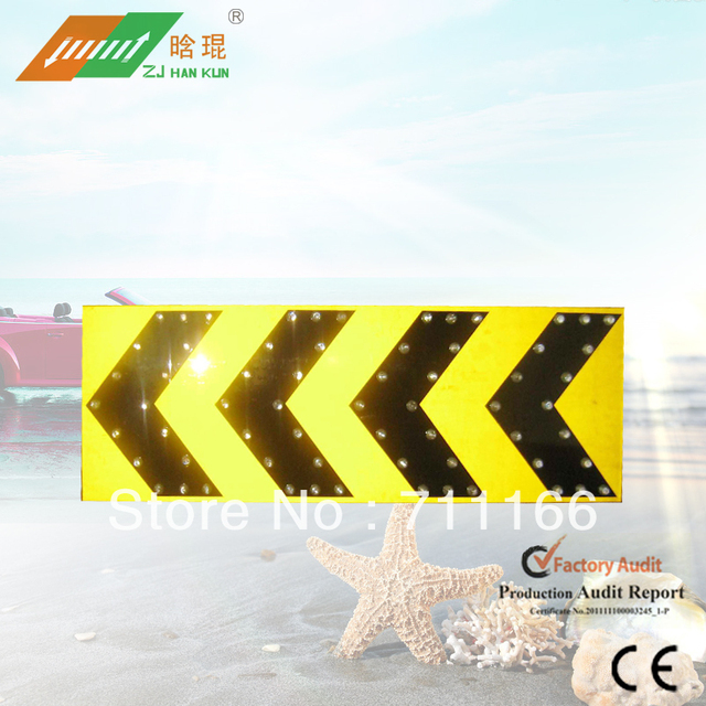 Rectangle solar traffic signal arrow board