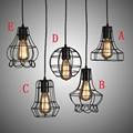 E27 pingente do Vintage lâmpada estilo americano luz pingente de gaiola, Gaiola de pássaro do Vintage decoração pingente Industrial iluminação