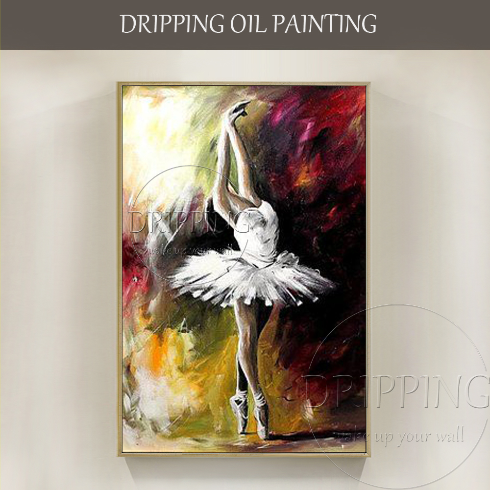 Artist Pure Hand-painted High Quality Abstract Ballerina Oil Painting on Canvas Beautiful Ballerina Dancing Picture Painting OilArtist Pure Hand-painted High Quality Abstract Ballerina Oil Painting on Canvas Beautiful Ballerina Dancing Picture Painting Oil