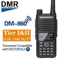Baofeng DM 860 Dual Band Dual Time Slot Digital DM 1801 Radio Walkie Talkie Transceiver DMR Motrobo Tier1 Tier2 Portable Radio