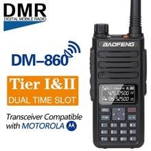 Baofeng DM 860 faixa dupla dupla tempo slot digital DM 1801 rádio walkie talkie transceptor dmr motrobo tier1 tier2 rádio portátil