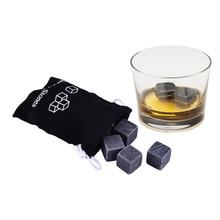 Дропшиппинг 6 шт./пакет натуральные многоразовые Виски камни Барные аксессуары дома барная подставка для вина сумка для морозильной камеры ведерко со льдом для шампанского