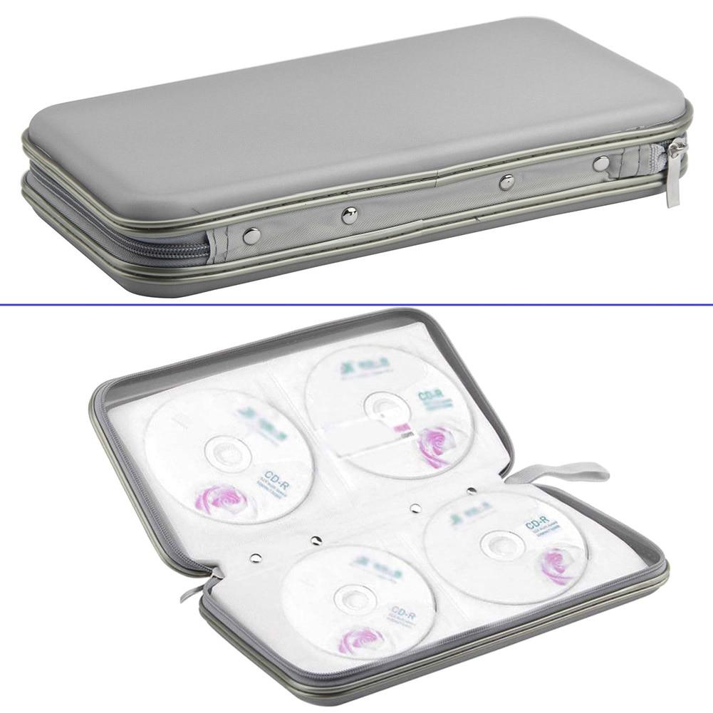 80 Pcs Disc CD DVD VCD DJ Storage Case Portable Organizer Zipper Wallet Album Bag HG99