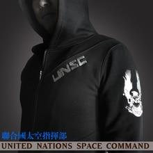 unsc costume sweatshirt hoodie sweatshirt cotton zipper embroidery clothes men hooded sportswear hoodies jacket