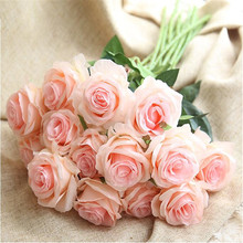 Artificial flower wedding decoration single branch rose bouquet home background wall photography set
