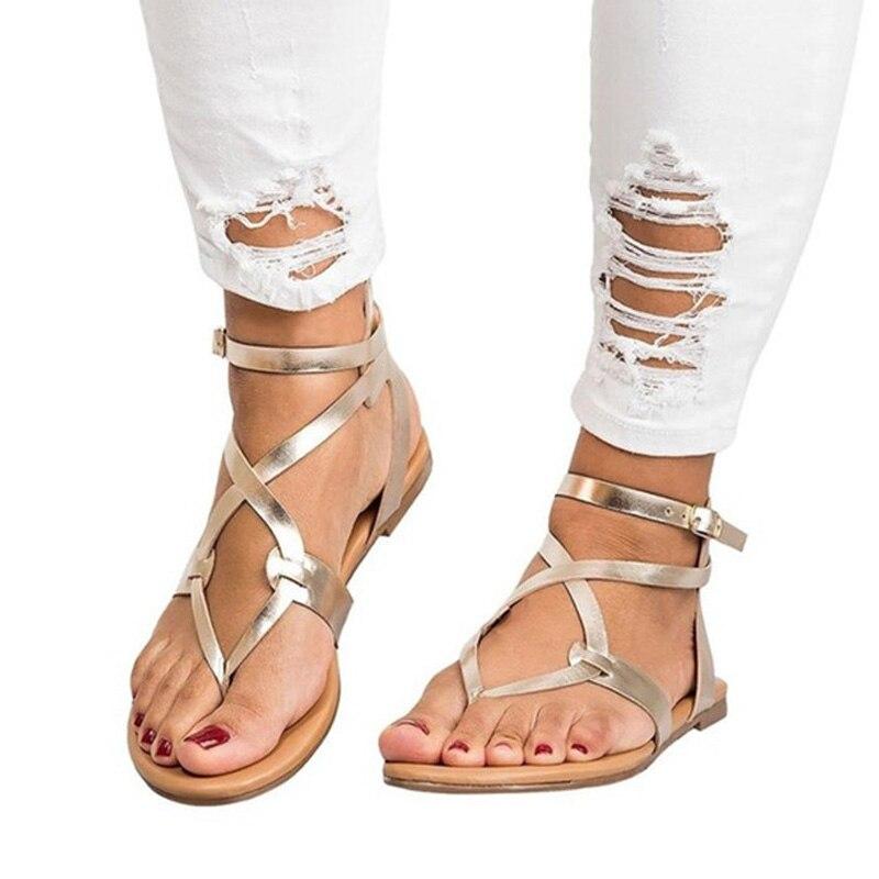 New Women Sandals Gladiator Flat Sandals Summer Women Shoes Heel Ankle Strap For Women Rome Style Ladies Shoes Woman SandalieNew Women Sandals Gladiator Flat Sandals Summer Women Shoes Heel Ankle Strap For Women Rome Style Ladies Shoes Woman Sandalie