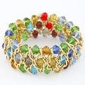 Fashion Korean Bracelet Gold Plated Beads Chain Elastic Bracelets For Women Bijoux Pulseras One Direction Bracelets & Bangles