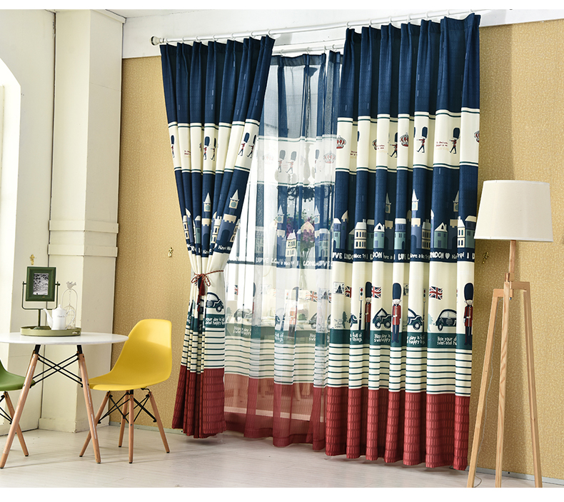 British Style Cortinas Cartoon Curtain Living Room Kidu0027s Room Curtains  ECO Friendly Velour Tulle Fabric Part 64